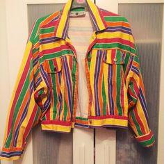 e2af68f1f414 Rainbow striped denim jacket Cropped Denim Jacket, Twilight, Dream Closets,  Gay. Depop