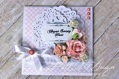Karteczka na Chrzest Święty #kartka #chrzest #dziecko #dziewczynka #handmade #rekodzielo