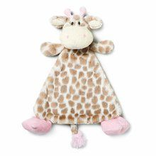 Nat and Jules Blankie Rattle Plush Toy, Sadie Giraffe. Available at OurPamperedHome.com