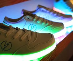 Outshine everyone around you by stepping out in these light up sneakers. Available in both men's and women's sizes, each pair features an insanely bright LED sole that's rechargeable and offers over 8 hours of glow time - making them ideal for music festivals.