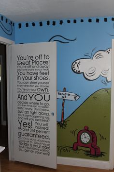 Dr. Seuss Baby... i think   im decorating my kids room like this when we move to our new home.