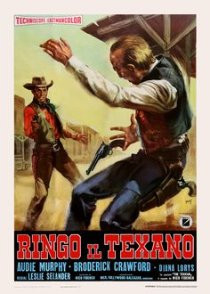 The Texican (1966) Stars: Audie Murphy, Broderick Crawford, Diana Lorys, Luz Márquez, Antonio Casas, Aldo Sambrell ~ Director: Lesley Selander (Italian Poster)