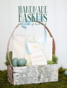 Handmade birch bark Easter baskets...