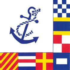 Ideal Home Range 20 Count Boston International Paper Cocktail Napkins, Nautical Flags Nautical Flags, Nautical Party, Beverage Napkins, Cocktail Napkins, Sailing Theme, Party Supply Store, Joss And Main, Event Decor, Decorative Accessories