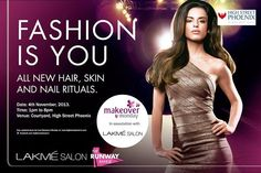 """Get in sync with the latest hair, skin & nail trends of this season  ~ High Street Phoenix in association with Lakme Salon brings a trendilicious 'Makeover Monday' ~  As the festive season approaches, Mumbai is gearing up to look its fashionable best. This 4th November, if you visit the Courtyard of High Street Phoenix between 1 pm and 8 pm for an exclusive and extensive """"Booklet of Trends"""" which is a guide to all the must-dos from the last fashion week presented by the Lakme Salon."""