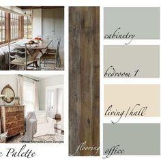Interior Paint Palettes, Paint Color Palettes, Paint Color Schemes, Room Paint Colors, Interior Paint Colors, Paint Colors For Living Room, House Color Schemes Interior, Basement Color Schemes, Rustic Color Palettes