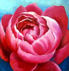 Nel's Everyday Painting: Peony Tweaked - SOLD