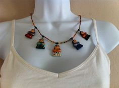 """Guatemalan """"Worry Doll"""" necklace"""