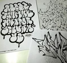 Graffiti Alphabet Styles, Graffiti Lettering Alphabet, Chicano Lettering, Graffiti Writing, Tattoo Lettering Fonts, Graffiti Font, Graffiti Tagging, Graffiti Characters, Graffiti Styles