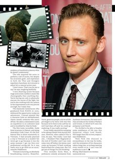 Tom Hiddleston for The Lady magazine, issue March 17 2017. Scans magazine: http://maryxglz.tumblr.com/post/158845056797/lolawashere-tom-hiddleston-for-the-lady Via lolawashere.tumblr