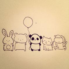 Sad Panda + Friends