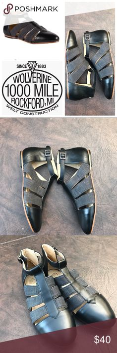 Wolverine Samantha Pleet Digby sandals Off Season price on some super cute black and gray gladiator style sandals from Wolverines Samantha Pleet line. Wolverine Shoes Sandals