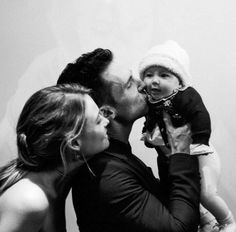 Adam, Behati and daughter Dusty Rose <3