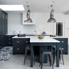 Home - Shiels & Co. Copper Handles, Shaker Style Kitchens, Apartment Renovation, Farrow Ball, Kitchen Styling, Contemporary, Modern, Railings