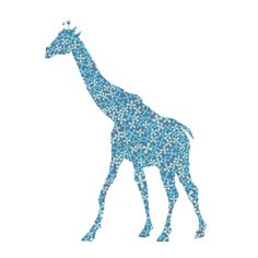 Girafe en papier peint