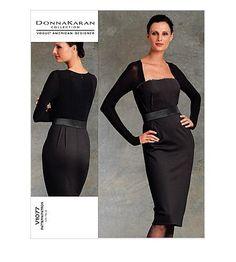Vogue 1077 Donna Karan Fitted Dress Pattern