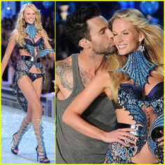 Adam Levine & Anne V - Victoria's Secret Fashion Show 2011