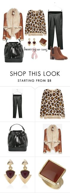 """""""lunes 19/10/2015"""" by aliciagorostiza on Polyvore featuring moda, H&M, Piel Leather, Mason by Michelle Mason, White House Black Market y Dorothy Perkins"""