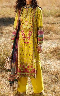 Saffron Yellow Lawn Suit   Buy Rang Rasiya Pakistani Dresses and Clothing online in USA, UK Pakistani Lawn Suits, Pakistani Dresses, Salwar Suits, Rang Rasiya, Fashion Pants, Fashion Dresses, Suits Online Shopping, Buy Rings, Lawn Fabric