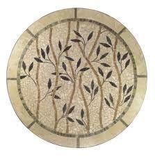 mosaico - mesa redonda ramos de flores