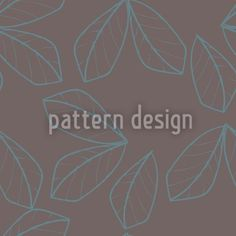 Linear Leaves Repeat Pattern, designed by Gill Eggleston    High-quality Vector Pattern from patterndesigns.com