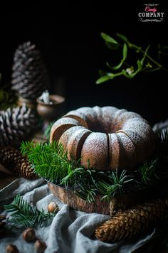 Hazelnut bundt cake, moist and yummy. Food photography by Candy Company