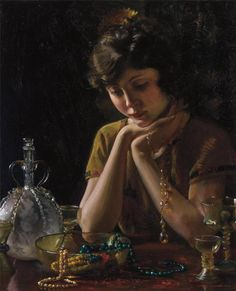 Charles Courtney Curran (American, 1861-1942) Heirlooms