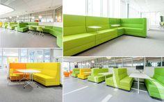 Lounge werkplekken van Palau. Een andere manier van zowel individueel als in een klein projectteam werken