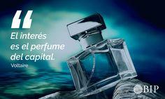 """Frase célebre de Voltaire: """"El interés es el perfume del capital"""". Perfume, Quotes, Movie Posters, Famous Taglines, Motivational Quotes, Finance, Quotations, Film Poster, Quote"""