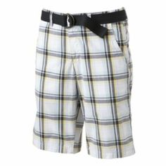 Urban Pipeline Plaid Flat-Front Shorts - Men