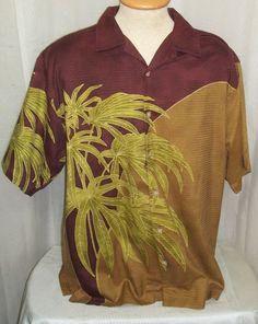 Tommy Bahama Relax Hawaiian Shirt Large Bamboo Leaves Silk Hawaii Mens Camp   TommyBahama  Hawaiian 47f910cf7