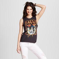 Women's Star Wars Group Graphic Tank Top Black XL (Juniors')