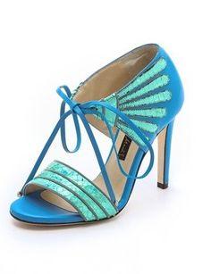 Click Image Above To Purchase: Chrissie Morris Holographic Tie Sandals Fancy Shoes, Crazy Shoes, Me Too Shoes, Pretty Shoes, Sock Shoes, Shoe Boots, Shoes Heels, Pumps, Shoe Closet