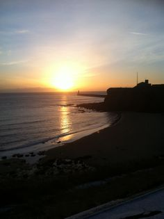 Sun rise king Edwards beach tynemouth 7.39 am Wednesday 12 th February 2014