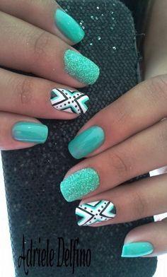 green nail designs - Google Search