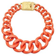 bcbg orange necklace | shop jewelry necklaces tory burch necklaces tory burch resin necklace ...