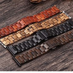 Apple Watch Bamboo / Wood Strap. Ebony wood, Sandalwood, Red Sandalwood, Maple wood Buy Apple, Apple Watch Series 1, Wood Watch, Watch Bands, South Africa, Bamboo, Red, Wooden Clock, Watch Straps
