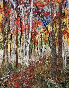 Impressionistic art quilts by ann loveless @nightowllady check out this art- made with fabric