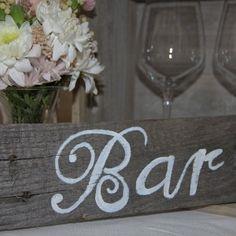Wooden bar sign auckland hire