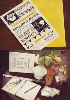 What a great layout on the invitation | Graduation invitation