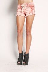Tied Shorts - Red $55