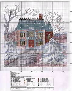 Solo Patrones Punto Cruz (pág. 1692) | Aprender manualidades es facilisimo.com Cross Stitch House, Cross Stitch Tree, Just Cross Stitch, Cross Stitch Needles, Cross Stitch Charts, Funny Cross Stitch Patterns, Cross Stitch Designs, Cross Stitching, Cross Stitch Embroidery