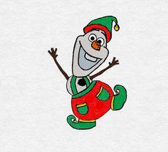 Olaf [as an Elf] (Drawing by TortallMagic Christmas Drawing, Christmas Paintings, Olaf Funny, Olaf Drawing, Disney Olaf, Disney Pixar, Olaf Party, Olaf Frozen, Disney Frozen