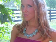 This necklace sure makes a statement!  Sweet Clover05 on Etsy!