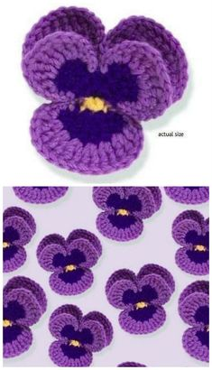 Crochet Flowers Design [Free Pattern] This Lovely Crochet Pansy Is Perfect In Every Way - Loading. I hope you have enjoyed this beautiful crochet, the free pattern is HERE so you can make a beautiful crochet. Crochet Puff Flower, Knitted Flowers, Crochet Flower Patterns, Love Crochet, Crochet Gifts, Crochet Motif, Crochet Designs, Crochet Stitches, Knitting Patterns