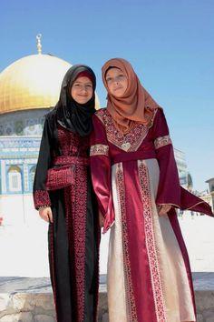 Palestinian girls at the Noble Sanctuary [Al-Haram Al-Shareef], occupied Jerusalem, Palestine