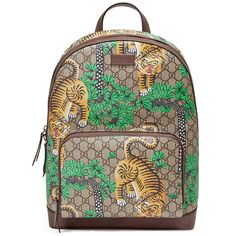 Gucci Gucci Bengal Gg Supreme Backpack ($1,160) ❤ liked on Polyvore featuring men's fashion, men's bags, men's backpacks, backpacks, handbags, women and gucci mens backpack