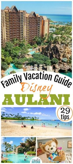 Family vacation guide for Disney Aulani - plan an awesome Hawaii family vacation with these 29 tips - how to score activities, beach chairs, and the perfect family photo! Oahu Hawaii travel