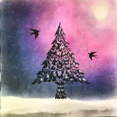 Fir-tree enchanted forest by Atkah