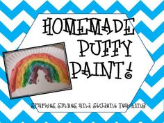 Microwave Puffy Paint! Easy recipe with great results (Sparkles, Smiles, and Student Teaching)